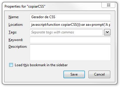 Gerador de CSS em Cascata